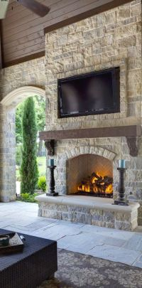 17 Best ideas about Stone Fireplaces on Pinterest