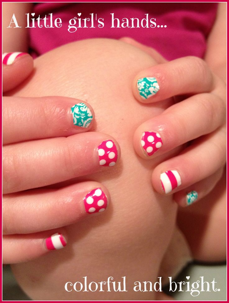 Little girls can have cute nails without having to wait
