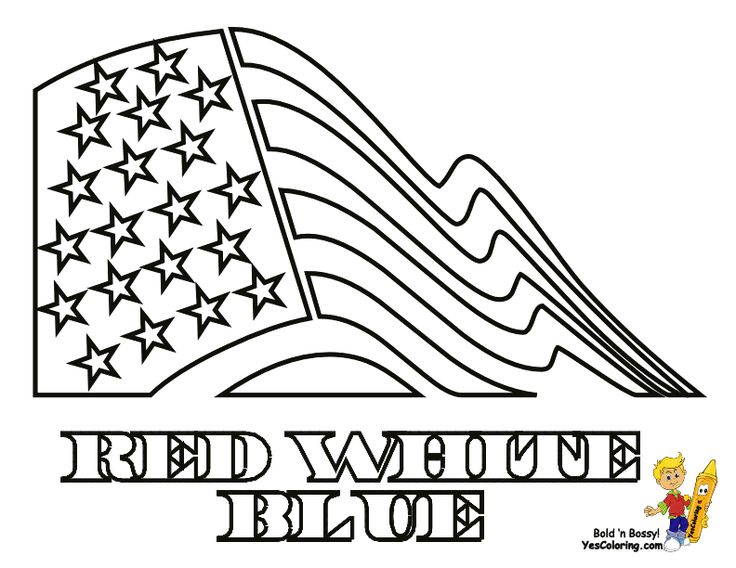American Flag Coloring Page... SEE the official flag