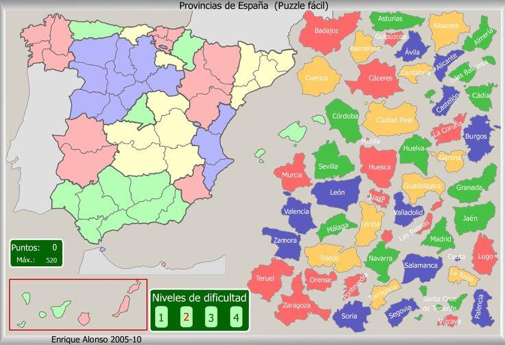 Mapa Interactivo De España Provincias De España Puzzle