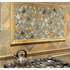 Tile For Backsplash In Kitchen Vintage Curtains Glazzio Glass And Slate - A Clever Idea Focal Point ...