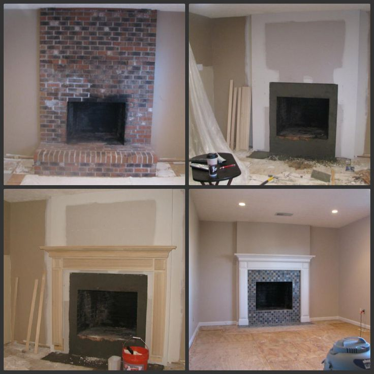 fireplace remodel before and after  Google Search  Home Fire place  Pinterest  Modern