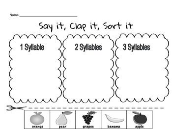 175 best images about Teaching Syllables on Pinterest