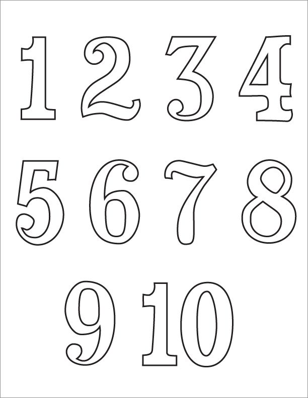 M/number Coloring Pages 70 Coloring Pages
