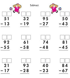 17 Best images about Two-Digit Subtraction on Pinterest