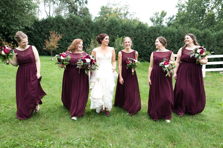 17 Best Ideas About Maroon Bridesmaid Dresses On Pinterest