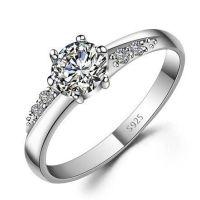 Custom Name Engraved Zircon Promise Ring for Her ...