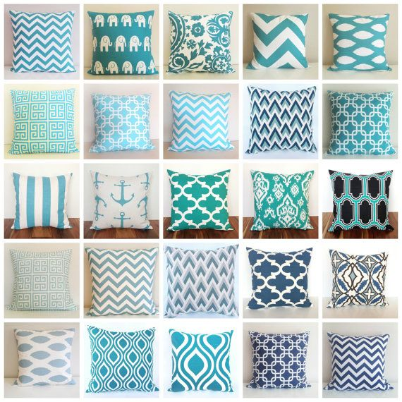 SALE 2 Decorative Throw Pillow Covers. BLUES 18 by thebluebirdshop, $32.40