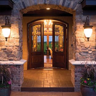 Front Door Entry  Lighting Fixtures  9 Foot Ceilings Design Ideas Pictures Remodel and Decor