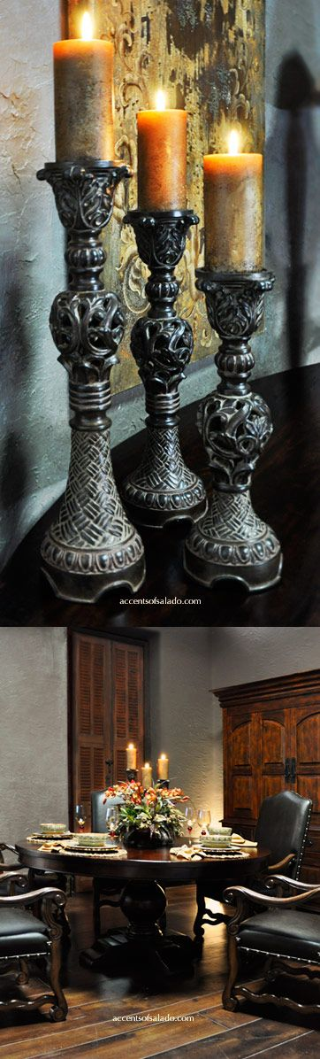 Old World Candle Holders For The Tuscan Dining Room Find