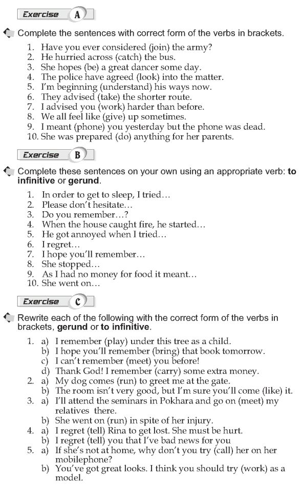 Images About Gerund And Infinitive