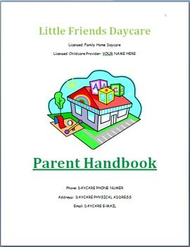 Cover Pages Tables And Parent Handbook On Pinterest