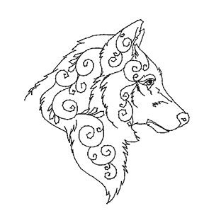 Embroidery designs, Wolves and Embroidery on Pinterest