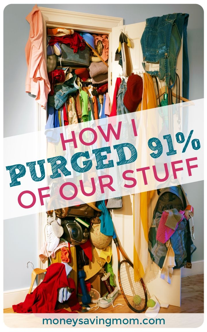 How I Purged 91% of Our Stuff!  This is SUCH an inspiring post! If you need motivation to declutter today, be sure to check it