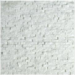 Stacked Stone Kitchen Backsplash Cabinet Shells Mini Split Face Tile Carrara | ...