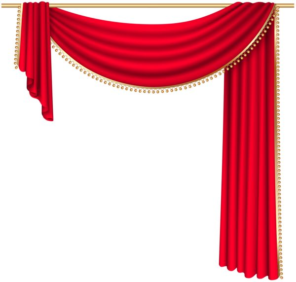 Red Curtain Transparent PNG Clip Art Image  PNGjpg
