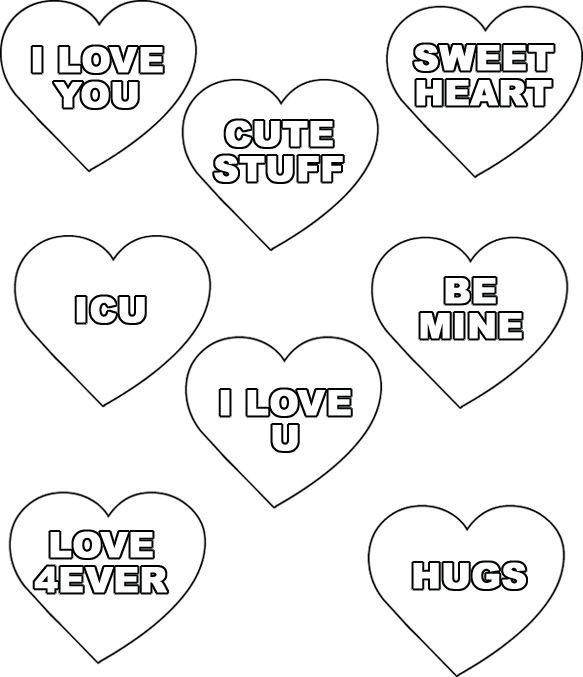 74 best images about Valentines Day Conversation Hearts on
