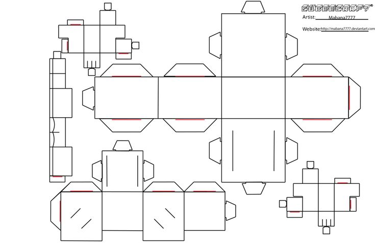 Cubeecraft Template Blank by Mabana7777.deviantart.com on