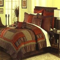 Queen King Cal King Brown Rust Olive Green Bedding ...