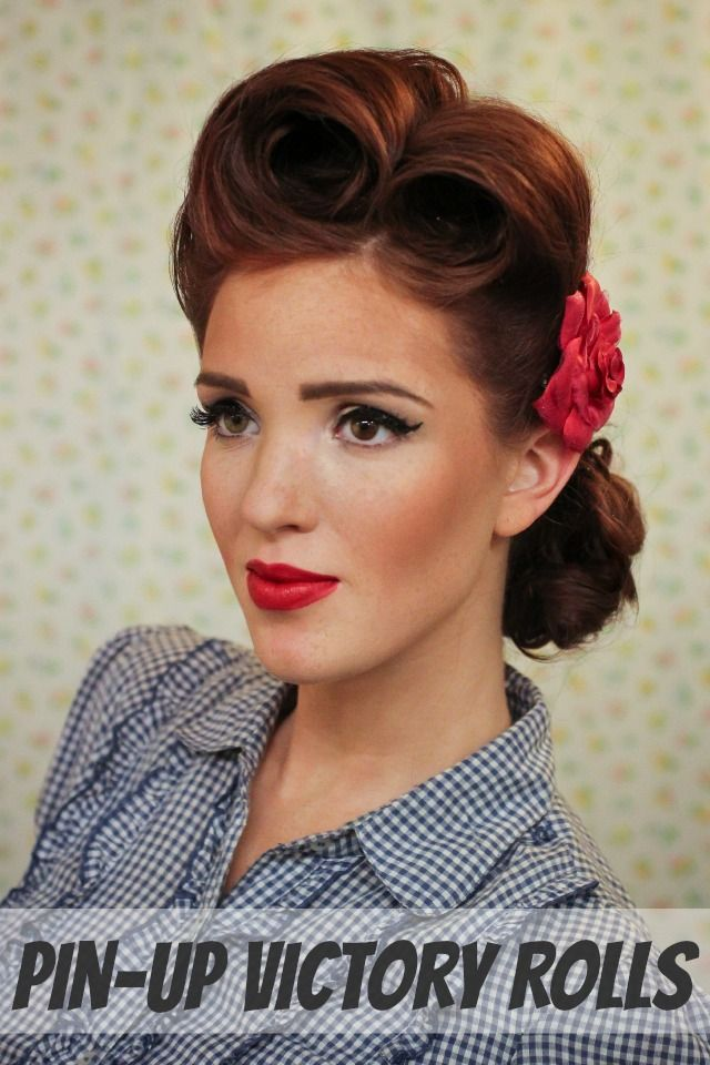 25 Best Ideas About Victory Rolls Tutorial On Pinterest 50s