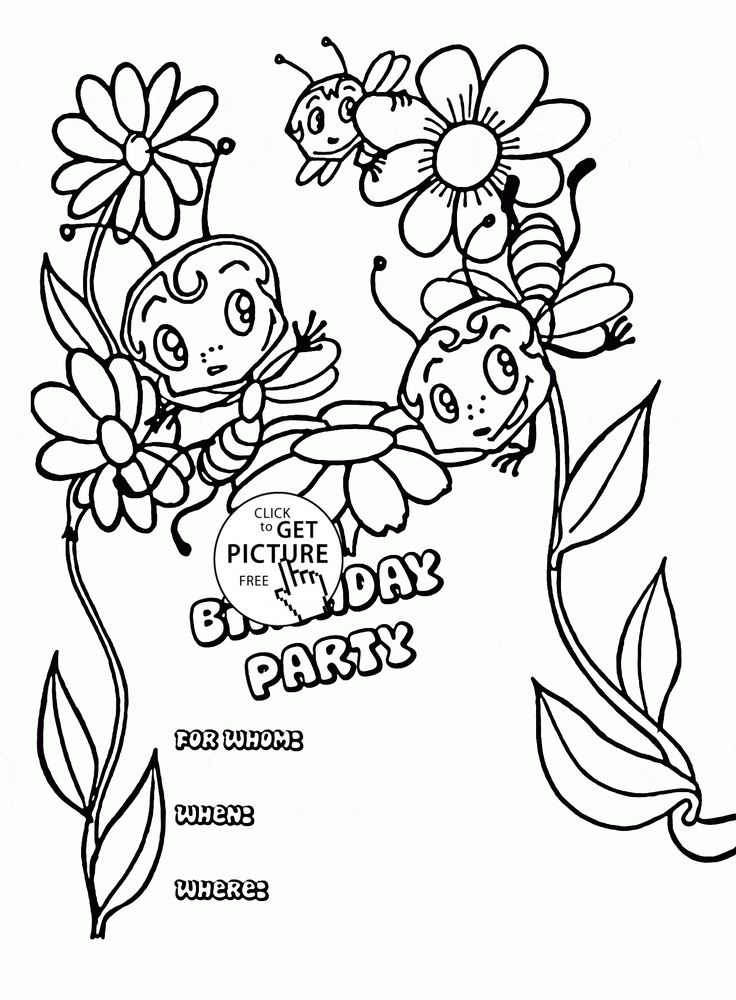 150 best images about Birthday coloring pages on Pinterest