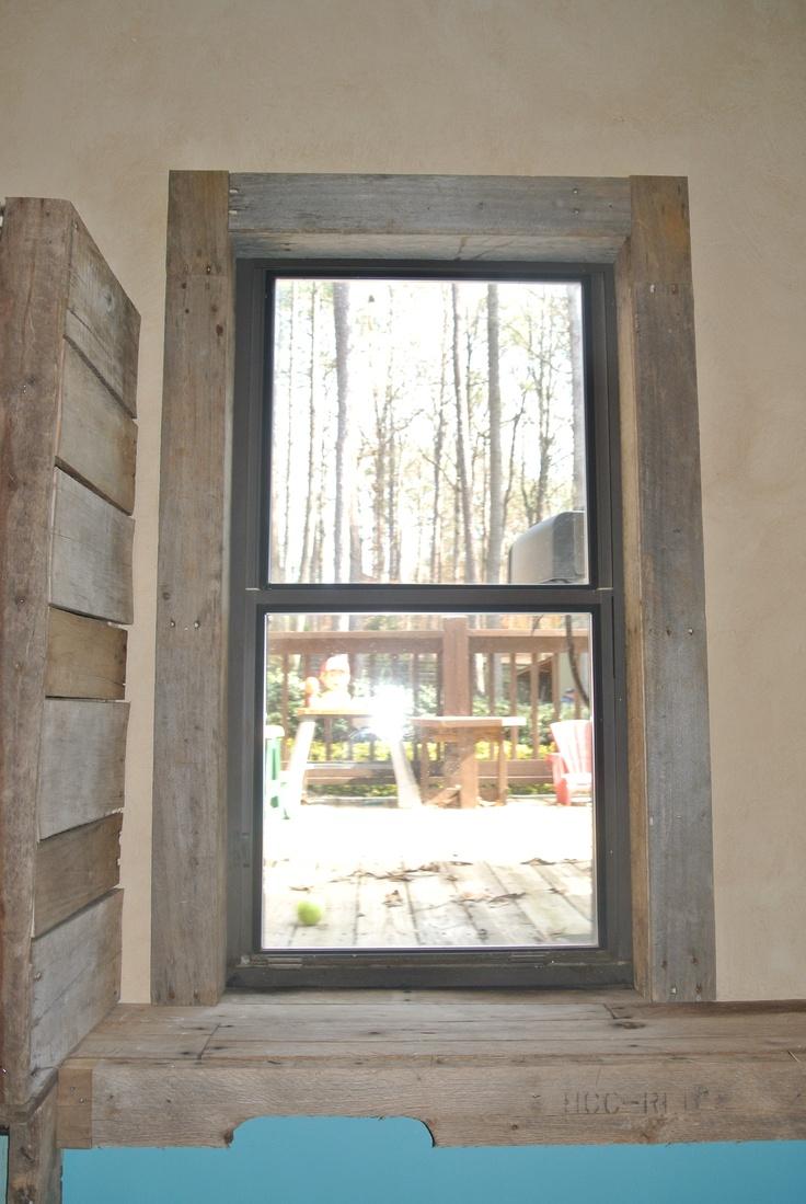Pallet Window trim  Walls  Floors  Pinterest  Window