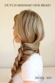 side-braid hairstyles pretty