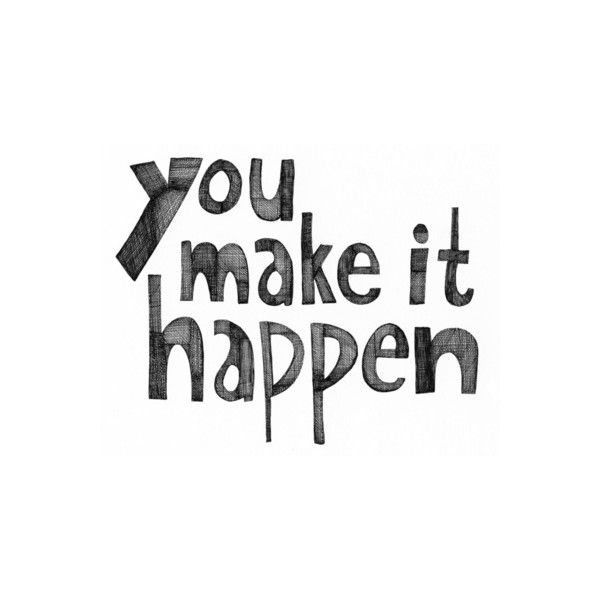 Background Text You Make it Happen Art Print by Virginia