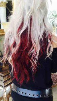 Platinum top light maroon bottom   Hair styles   Pinterest ...