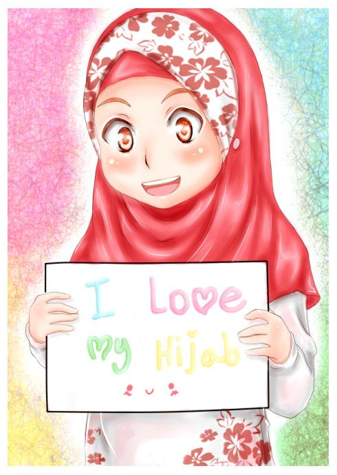 anime manga hijab art  Anime manga hijab  Pinterest
