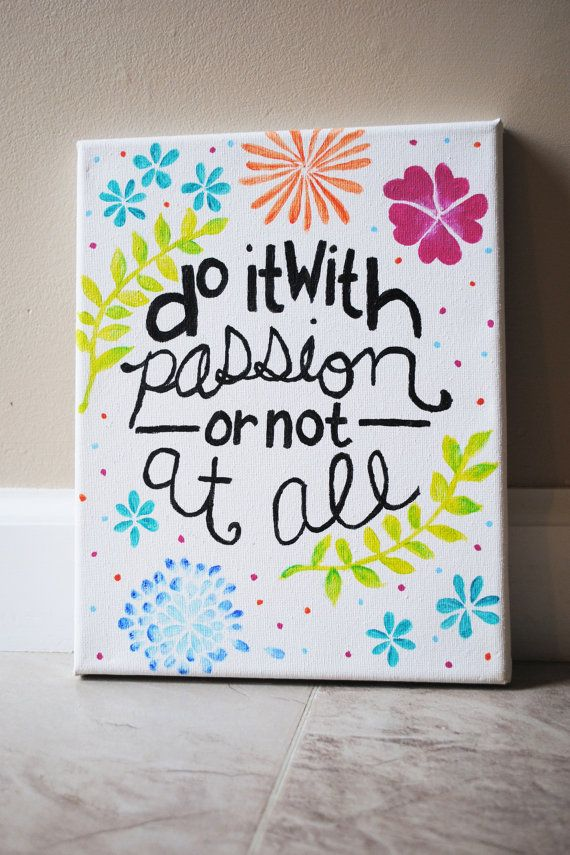 Easy Canvas Paintings Quotes Of Life