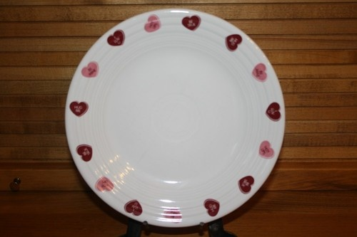 16 Fiestaware Valentine Luncheon Plate with Candy Heart