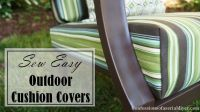 Sew easy outdoor cushion covers | Outdoor Living ...