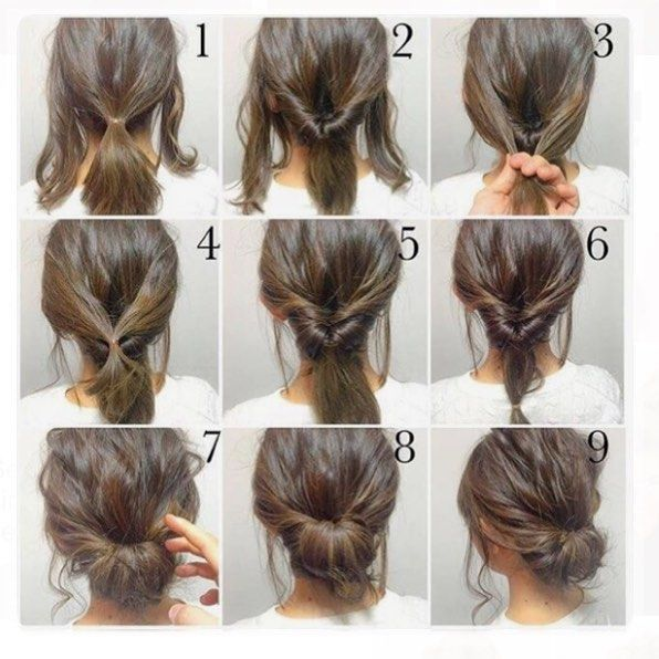 25 Best Ideas About Short Hair Updo On Pinterest Chignon Updo