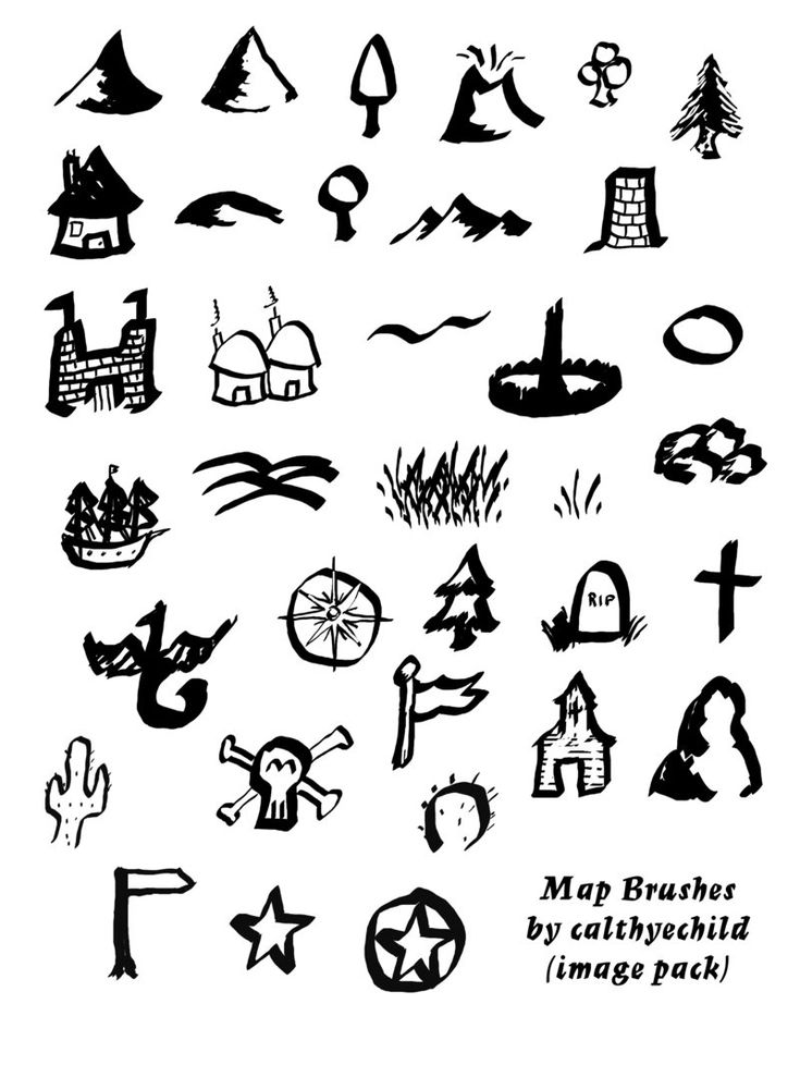 Tolkien Map Brushes image pack by calthyechild cartography
