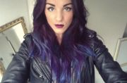 girl abbie fowler with dip-dyed
