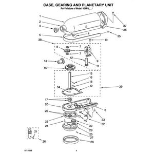 kitchenaid mixer parts and email/phone to call for help