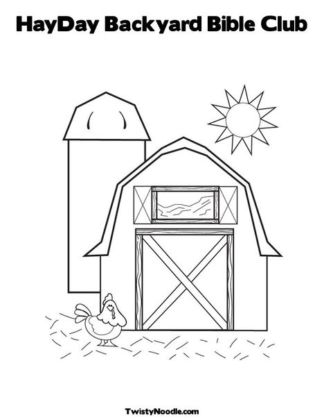 HayDay Backyard Bible Club Coloring Page from TwistyNoodle