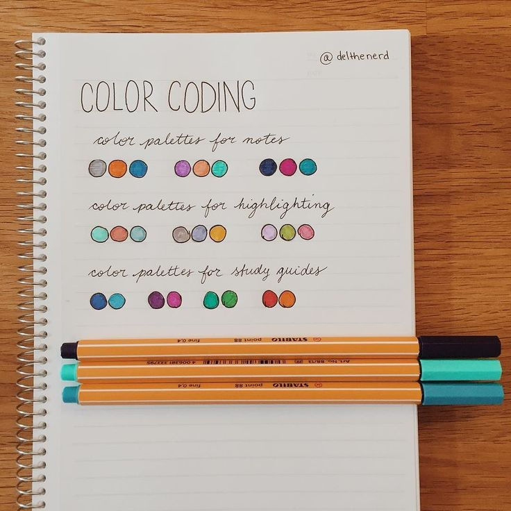 17+ best ideas about Color Coding Notes on Pinterest