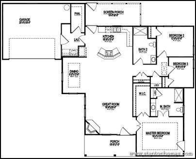 Accessible Home Floor Plan, drawn by Stanton Homes