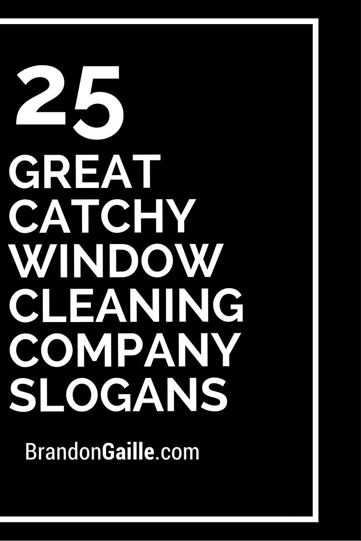 window cleaning company names
