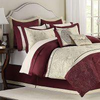 Trevi 12-Piece Full Bedding Superset (red, gold, cream) # ...