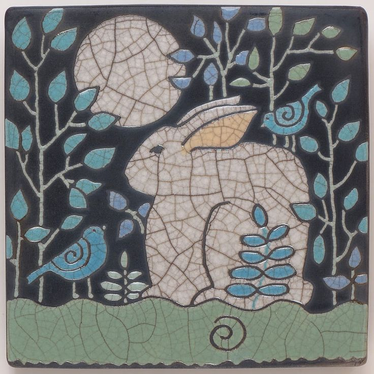 handmade ceramic art tiles