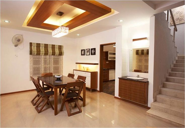 Dining room with wooden suspended ceiling SAVIO and RUPA