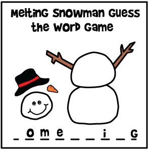 Winter craft, Guess the word game and The class on Pinterest
