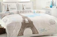Paris design %100 cotton quilt cover set/duvet cover set ...