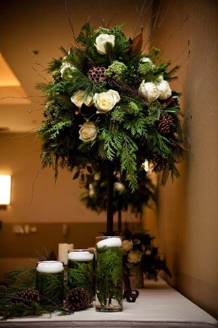 Winter Topiary Winter Wedding Decor From WwwTheWVcom