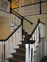 New 2 Story Foyer Staircase in 100 year old home. Newly ...