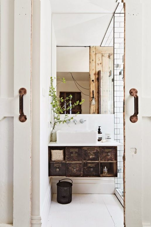 Love this unique vanity. Sneak peek from our friends at Inside Out Magazine of their March issue - coming out Thursday!: