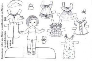 142 best images about Shirley Temple paper dolls on